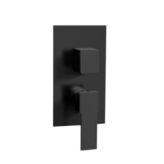 Diverter Matte Black Contemporary Built In Three Way Shower Diverter Remer Q93US-NO