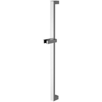Shower Slidebar Squared 27 Inch Sliding Rail Available in Chrome Finish Remer 317Q