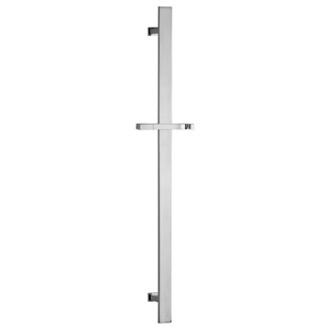 Shower Slidebar Squared 28 Inch Sliding Rail Available in Chrome Finish Remer 317R