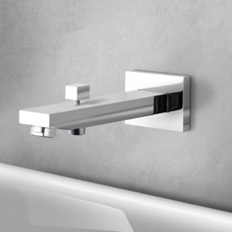 Tub Spout Wall-Mounted Tub Spout With Diverter Remer 91QD-CR