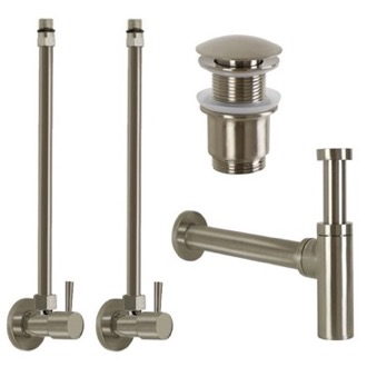 Plumbing Accessory Set Satin Nickel All-Inclusive Sink Installation Kit Remer SA400-NP