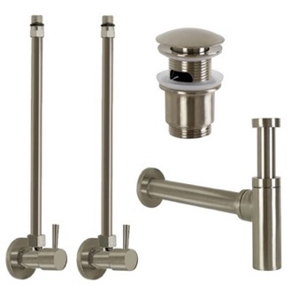 Plumbing Accessory Set Satin Nickel All-Inclusive Sink Installation Kit Remer SA400L-NP