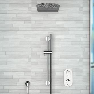 Shower Faucet Chrome Thermostatic Shower System with 10