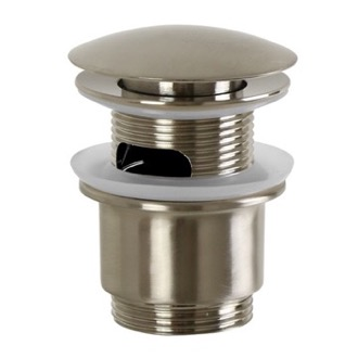 Pop-Up Waste Click Clack Pop-up Waste With Overflow in Brushed Nickel S2077-Brushed Nickel