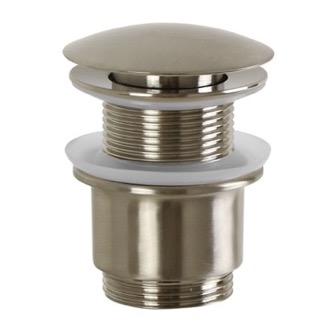 Pop-Up Waste Click Clack Pop-up Waste Without Overflow in Brushed Nickel S2079-Brushed Nickel