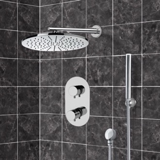 Shower Faucet Thermostatic Shower System with 12