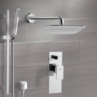 Shower Faucet Chrome Shower System with 14