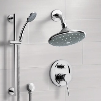 Shower Faucet Chrome Shower System with 6