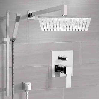 Shower Faucet Shower System with 12