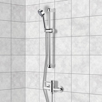 Shower Faucet Chrome Slidebar Shower Set With Multi Function Hand Shower Remer SR008