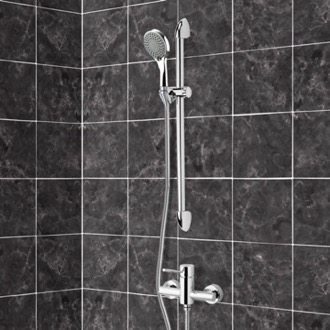 Shower Faucet Chrome Slidebar Shower Set With Multi Function Hand Shower Remer SR029