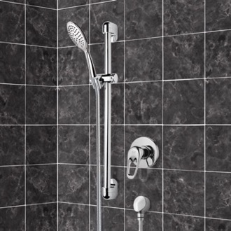 Shower Faucet Chrome Slidebar Shower Set With Multi Function Hand Shower Remer SR042