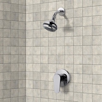 Shower Faucet Chrome Shower Faucet Set with Multi Function Shower Head Remer SS01
