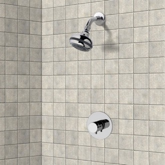 Shower Faucet Chrome Thermostatic Shower Faucet Set with Multi Function Shower Head Remer SS02