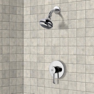 Shower Faucet Chrome Shower Faucet Set with Multi Function Shower Head Remer SS1083