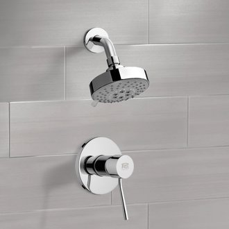 Shower Faucet Chrome Shower Faucet Set with Multi Function Shower Head Remer SS1203