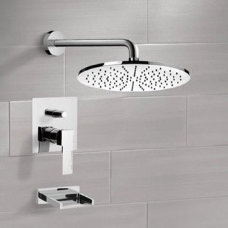 Tub and Shower Faucet Tub and Shower Faucet Sets with 12