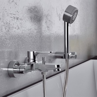 Tub Filler Wall Mounted Tub Faucet With Hand Shower Remer W02