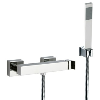 Shower Faucet Wall Mounted Shower Diverter with Hand Shower and Holder Remer Z39US
