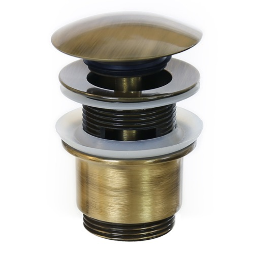 Pop-Up Waste Click Clack Pop-up Waste With Overflow in Old Brass S2077-Old Brass