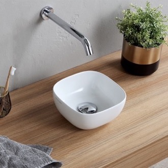Bathroom Sink Small Round Ceramic Vessel Sink Scarabeo 1809
