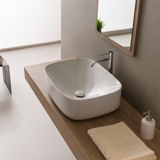 Bathroom Sink Round White Ceramic Vessel Bathroom Sink Scarabeo 5501
