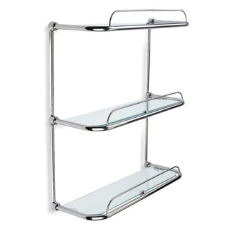 Bathroom Shelf Triple Glass Bathroom Shelf StilHaus 515