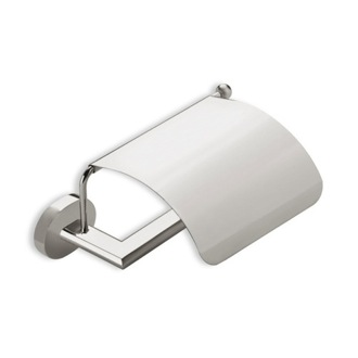 Toilet Paper Holder Satin Nickel Toilet Roll Holder with Cover StilHaus DI11C-36