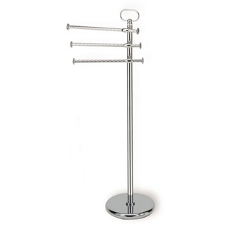 Towel Stand Chrome Standing Classic-Style Brass Towel Stand StilHaus G696-08