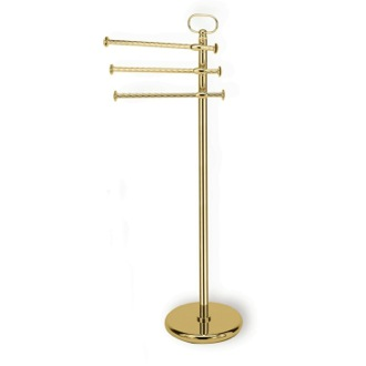 Towel Stand Gold Free Standing Classic-Style Brass Towel Stand StilHaus G696-16