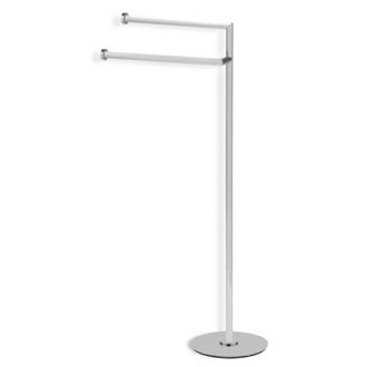 Towel Stand Satin Nickel Free Standing Towel Stand StilHaus ME19-36