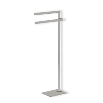 Towel Stand Satin Nickel Free Standing Towel Stand StilHaus DI19-36