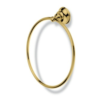 Towel Ring Contemporary Gold Brass Towel Ring StilHaus SM07-16