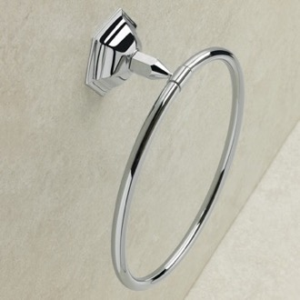 Towel Ring Simple Wall Mounted Circular Towel Ring in Multiple Finishes StilHaus MA07