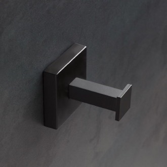 Bathroom Hook Wall Mounted Matte Black Hook StilHaus U13-23