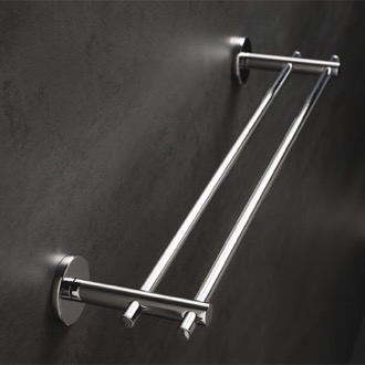 Double Towel Bar Chrome 18 Inch Double Towel Bar Made in Brass StilHaus VE45.2-08