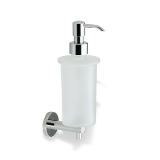 Soap Dispenser Chrome Wall Mounted Frosted Glass Soap Dispenser with Brass Mounting StilHaus VE30-08