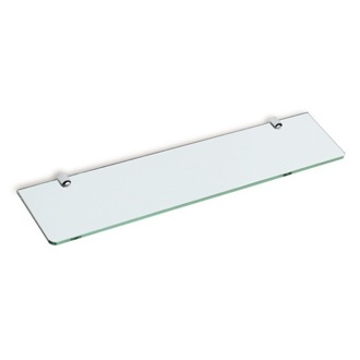 Bathroom Shelf Square 24 Inch Clear Glass Bathroom Shelf StilHaus Z04