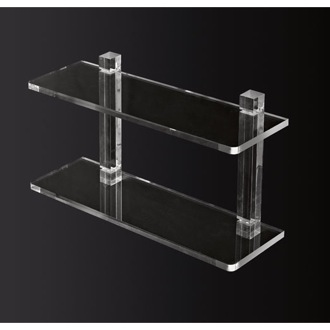 Bathroom Shelf 24 Inch Double Tier Plexiglass Bathroom Shelf Toscanaluce L000/60