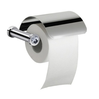 Toilet Paper Holder Wall Mounted Toilet Roll Holder With Cover and White Crystal Windisch 85511CRB