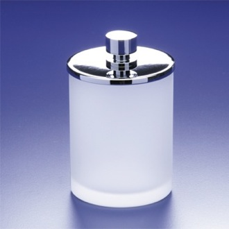 Bathroom Jar Round Frosted Glass Cotton Ball Jar Windisch 88125M