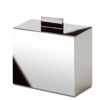 Bathroom Jar Box Metal Cotton Ball Jar in Chrome, Gold, or Satin Nickel Windisch 88418