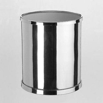 Waste Basket Round Bathroom Waste Bin in Brass Windisch 89102