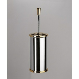 Toilet Brush Free Standing Brass Round Toilet Brush Holder With Cover Windisch 89106