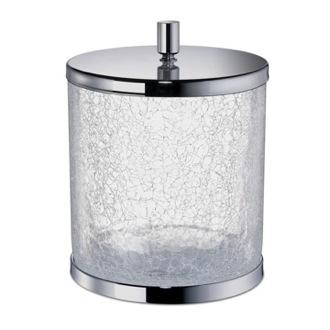 Waste Basket Round Crackled Glass Bathroom Waste Bin With Cover Windisch  89165