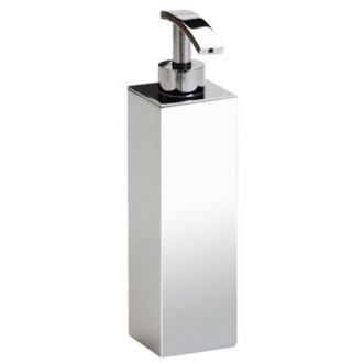 Soap Dispenser Tall Squared Chrome, Gold or Satin Nickel Bathroom Soap Dispenser Windisch 90102