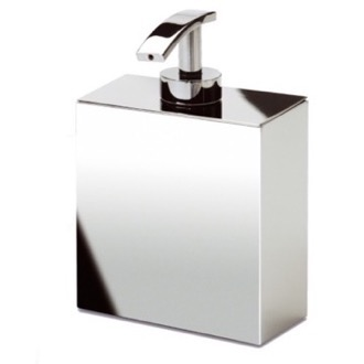 Soap Dispenser Box Shaped Chrome, Gold, or Satin Nickel Wall Mounted Soap Dispenser Windisch 90121