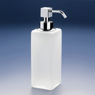 Soap Dispenser Squared Tall Frosted Crystal Glass Soap Dispenser Windisch 90412M