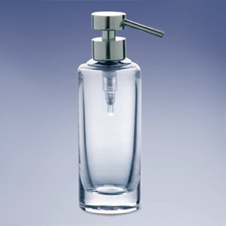 Soap Dispenser Rounded Tall Plain Crystal Glass Soap Dispenser Windisch 904141