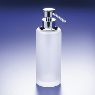 Soap Dispenser Rounded Tall Frosted Crystal Glass Soap Dispenser Windisch 90414M
